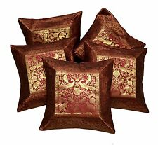 5pcs-100Pcs Ethnic Dark Red Applique Indian Cushion Covers Wholesale Lot