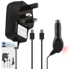 Car And Mains Charger 1000 mAh UK 3 Pin For BlackBerry 9700 Bold, 9780 Onyx
