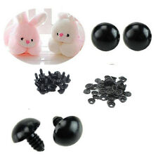 Animal/Felting 100pcs Eyes For Teddy Bear Black Safety Plastic 6-14mm Toy