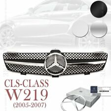 (3 Colors) Front Mesh Grille Sport AMG for Mercedes Benz CLS Class W219 2005-07