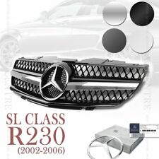 MERCEDES BENZ R230 SL CLASS SPORT FRONT GRILLE GRILL SL500 SL600 02-06 4 STYLES