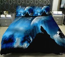 Wolf Print Bedding Set Animal Print Twin Full Queen King Duvet Cover Bed Sheet