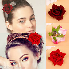 1Pcs New Bridal Rose Flower Hair Clip Hairpin Brooch Wedding Party Accessories