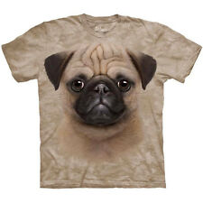 PUG PUPPY T-Shirt by The Mountain Big Face Dog Adult Short Sleeve Sizes S-3XL