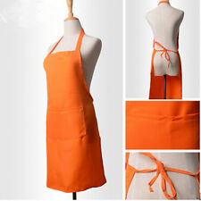 Women Pocket Uniform Kitchen Cooking Halter Apron Restaurant Style