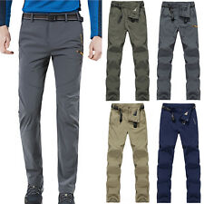 Mens Summer Outdoor Ski Overalls Pants Waterproof Climbing Hiking Trousers L-4XL