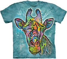 DEAN RUSSO GIRAFFE T-Shirt The Mountain Big Face Zoo Animal Art S-3XL NEW