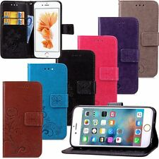 Retro Leather Skin Wallet Cover Case For Apple iPhone 4 5 5s/ 6 6s 7 / 7 Plus