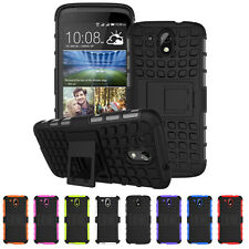 Armor Rugged Hybrid Hard Protective Impact Stand Case Cover For HTC Desire 526G