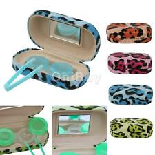 Portable Travel Kit Case Contact Lens Soaking /Storage Box with Mirror Container