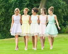 Short Junior Bridesmaid Evening Prom Gowns Formal Cocktail Wedding Party Dress