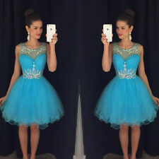 Short Junior Formal Evening Cocktail Bridesmaid Dress Wedding Party Prom Gowns