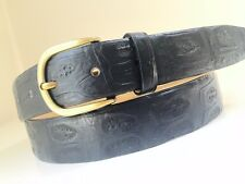 NEW GENUINE REAL CROCODILE alligator leather BELT BLACK BRASS BUCKLE. size 38