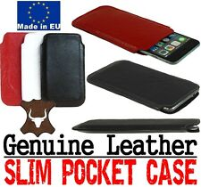 SLIM PREMIUM POCKET CASE COVER GENUINE LEATHER POUCH SLEEVE FOR MOBILE PHONES