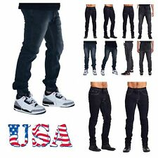 Men's Jean Jogger Pants Elastic Washed Black Denim Urban Harem Hip Hop  Hipster