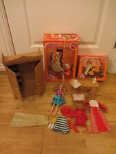 VINTAGE MARY QUANT DAISY'S WARDROBE & DRESSING TABLE BOXED & DOLL + CLOTHES LOT