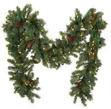 Bethlehem Lights 9' Plug In Garland with Pinecones H203049