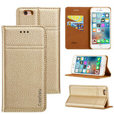 Genuine Real Leather Magentic Wallet Flip Case Cover for Apple iPhone 6 6s 5 5s