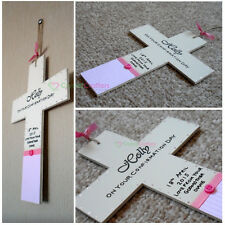 Personalised Wooden Cross - Holy Communion, Christening, Confirmation Gift