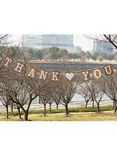 THANK YOU Wedding Banner Bunting Venue Party Letter Decoration Photo Props