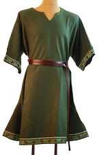 Medieval-LARP-SCA-Re-enactment-Mens-LINCOLN GREEN BRAIDED WOOLEN TUNIC One Size