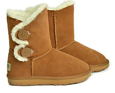 Ladies 2 Bailey Button Fashion Short Ugg Boots  Premium Australian Sheepskin