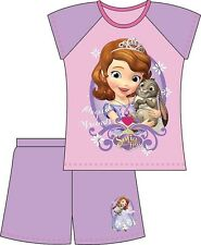Girls Babies Toddler Kids Sofia The First Disney Nighty Shorts And Top Pyjama
