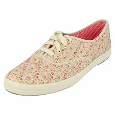 Ladies CHAMP DITSY FLORAL  Beigepink Floral lace up  flat shoe By Keds £12.99