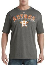 Houston Astros MLB Mens Majestic Last Rally Shirt Charcoal Big & Tall Sizes