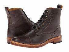 Stacy Adams Mens Oxblood Leather  Madison Lace Ankle Cap Toe Trendy Medium Boot