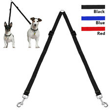 Adjustable 2 Way Dog Walking Leads Coupler Twin Puppy Pet Leash Durable for Dogs
