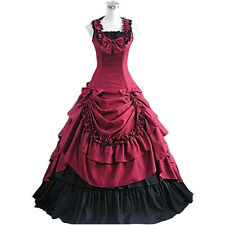 Victorian Period Prom Ball Dress Southern Belle Gown Reenactment Costumes Custom
