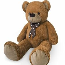 Brown Teddy Bear Huge Cuddly Stuffed Plush Soft Toy Kids New Cute Gift Present