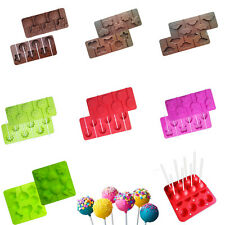 Cake Candy Lollipop Chocolate Silicone Mold Tray Baking Decorating Mould Tool