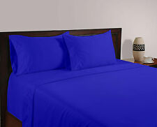BRITISH 1200TC HOTEL SOLID BEDDING COLLECTION EGYPT BLUE 100% COTTON IN ALL SIZE