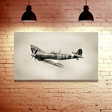 WW2 RAF SUPERMARINE SPITFIRE AIRCRAFT FRAMED CANVAS WALL ART PHOTO PRINT - GIFT