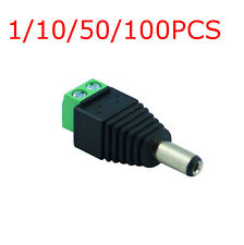 1/10/50PCS DC Power Male Plug Jack Adapter Connector for CCTV LED Light camera
