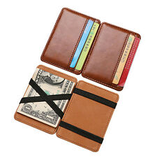 Luxury Magic Wallet money clip credit card holder ID business mens PU leather