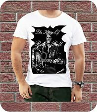 Elvis Presley The King Of Rock N Roll Men T-shirt New Black White Christmas Gift