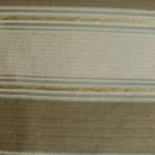 """Brown Taupe Gray Blue Striped Upholstery Drapery Fabric By The Yard 54""""W"""