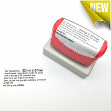 32mm x 67mm Custom Business Logo Text Rubber Flash Stamp Self Inking Refillable