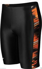 Speedo Boy's/ Men's Xtra Life Lycra Fractal Point Jammer DEEP ORANGE Sizes 20-28
