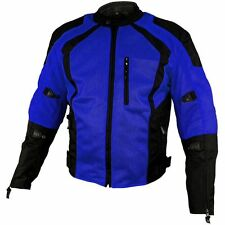 Xelement Cyclone Men's Black/Blue Mesh Tri-Tex Armored Motorcycle Jacket XS-3020