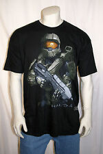 HALO 4 MASTER CHIEF SOLDIER Xbox 360 VIDEO GAME MEN'S Black Tee T-Shirt  XX