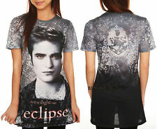 NEW Twilight Saga ECLIPSE Edward Cullen Vampire Sublimation Tee T Shirt XS & M