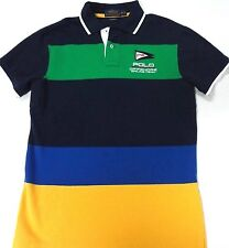 POLO RALPH LAUREN Men's New Mesh Custom-Fit Sailing Team Shirt size Small Large