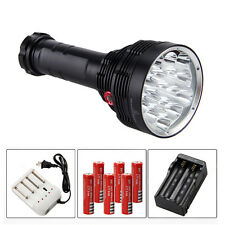 SKYRAY 30000LM 16*CREE XM-T6 LED Flashlight Torch Hunting Light 6x18650+3*Charge