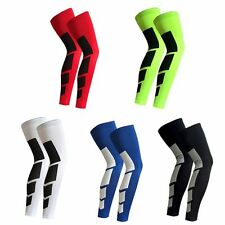 Basketball Cycling Protection Gear 1x Antislip Sport Gym Leg Sleeves Compression