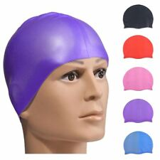 Durable Flexible Sport Silicone Swimming Cap Bathing Hat Unisex Adult Waterproof
