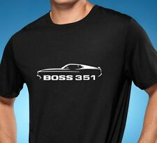 1971 Ford Mustang Boss 351 Classic Muscle Car Tshirt NEW FREE SHIPPING